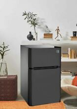 Mini Fridge With Freezer For Bedroom Apartment Sized Compact Refrigerator 2 Door