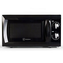 Westinghouse 0 6 Cubic Foot 600 Watt Kitchen Counter Top Microwave Oven  Black