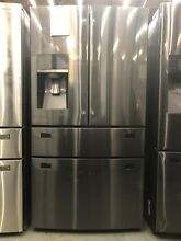 Samsung 30 cu ft French Door Refrigerator in Fingerprint Resistant   RF30KMEDBSG