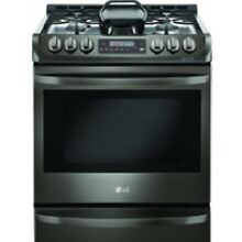 LG 30  Black Stainless Steel Slide In Gas Range