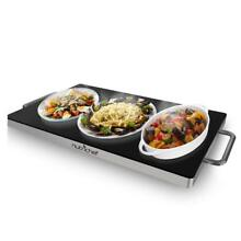 NutriChef Portable Electric Hot Plate   Stainless Steel Warming Tray Dish Warmer