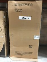 DTF36FCS DACOR 36  CAB DEPTH FRENCH DOOR FRIDGE STAINLESS IN BOX
