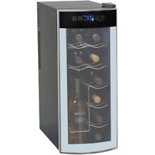 Countertop Wine Cooler 12 Bottle Thermoelectric Home Kitchen Metal Bar Station