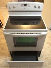 Electric range  oven  stove  cooking  baking  white  30  ribbon elements