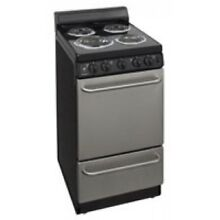 Premier 20  Stainless Steel And Black Electric Range