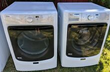 FRONT LOAD MAYTAG WASHER   STEAM GAS DRYER 2016 MODEL