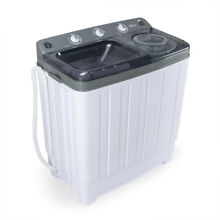 30LBS Mini Compact Portable Washing Machine Twin Tub Laundry Washer Spin Dryer