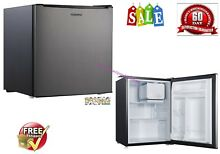 Mini Fridge Refrigerator Small Freezer Stainless RV Office Compact 2 7 Cu Ft