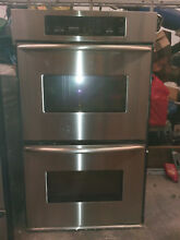Used kitchenaid 30  double electric wall oven stainless steel KEBC208KSSO