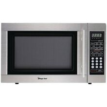 Magic Chef 1 3 cubic Ft Countertop Microwave  stainless Steel  MCPMCD1310ST