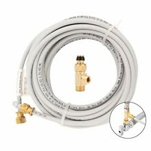 Ice Maker Installation Kit 25Ft Tubing Appliance Water Lines W  Stop Tee Fitting