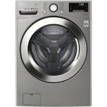 LG Graphite Steel Front Load Steam Washer