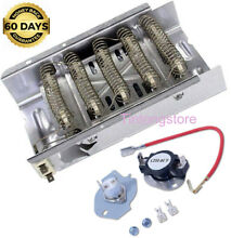 Electric Dryer Heating Element Heater Pad 5400 W 240 V Thermostat Kit Whirlpool