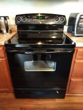 GE electric black range