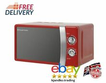 New Red Microwave Manual Oven 17L Kitchen 700W Red Best Sale Free Delivery Uk
