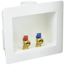 Eastman 60244 Dual Outlet Washing Machine Outlet Box 1 2  CPVC with Quarter Turn