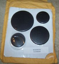 Genuine Whirlpool Range Burner Cap set   W10299236   Brand New
