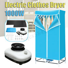1000W Portable Electric Clothes Dryer Folding Wardrobe Drying Rack Heat