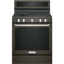 KitchenAid 30  Black Stainless Steel Freestanding Gas Range