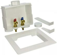Eastman 60245 1 2 in PEX Dual Outlet Washing Machine Box Valves Fittings Clamps