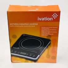 Ivation Ivicpt 18B 1800W Portable Induction Countertop Cooktop Burner  Black