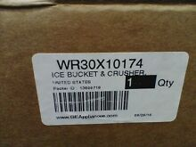 GE Refrigerator Ice Bucket WR30X10174 WR49X10322 Ice Crusher Assembly No Motor