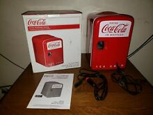 Coca Cola Retro Personal Fridge  Hold 6 Cans Good for Car  Boats  or Home