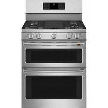 Cafe 30  Stainless Steel Freestanding Double Gas Range