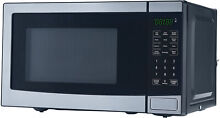 Stainless Steel Microwave With 10 Power Levels Mainstays 0 7 Cu  Ft  700W