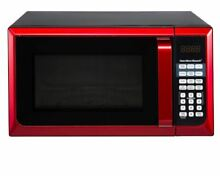 Microwave Oven Countertop Stainless Steel New Small 0 9 cu ft  Red