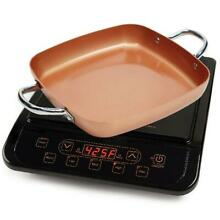 Copper Chef Induction Cooktop Stainless Steel Non Stick Coating Power Portable