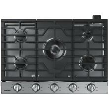 Samsung NA30N6555TS Stainless Steel 5 Hobs Wi Fi Gas Cooktop   Silver