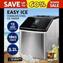 DEVANTi 3 2L Portable Ice Cube Maker Cold Commercial Machine Stainless Steel