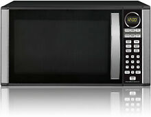 Hamilton Beach 1 3 cu  ft  Microwave Oven Black Stainless Kitchen 1000 Watt