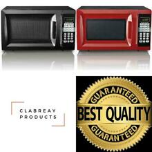 Hamilton Beach 0 7 Cu  Ft Microwave Oven for Kitchen RV Countertop Black Red NEW