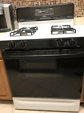 Hotpoint Gas Range  Black White  30    Used