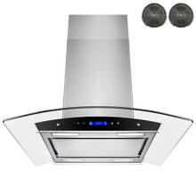 AKDY 30 In  Convertible Kitchen Island Mount Range Hood In Stainless Steel With