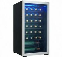 Danby DWC93BLSDB 36 Bottle Wine Cooler Reversible Door Tempered Glass Door Led