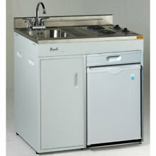 Avanti CK3616 36 Inch Complete Compact Kitchen with Refrigerator   Stove  White