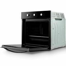 24  Electric Built In Single Wall Oven 220V Tempered Glass Push Buttons Control