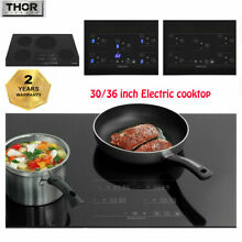 Thor 30 36  Electric Stove Induction Cooktop smooth top Glass Hob with 4 Burners