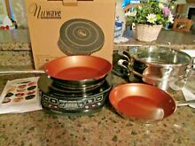 PRECISION PORTABLE NUWAVE INDUCTION COOK TOP W COOKWARE   BOOKS NIB