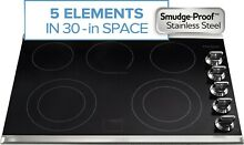 Frigidaire Gallery 30  Stainless Smoothtop 5 Element Electric Cooktop FGEC3067MS