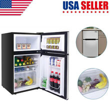 ZOKOP 90L 3 2CU FT Household Refrigerator Double Doors AC115V 60Hz US