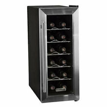 Koldfront TWR121SS 10 Inch 12 Bottle Thermoelectric Wine Cooler  Stainless Steel