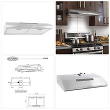 Cosmo 5MU30 30 in Under Cabinet Range Hood 200 CFM   Ducted  Ductless Convertibl