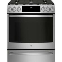 GE Profile 30  Stainless Steel Slide In Gas Range