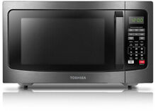 TOSHIBA 1 2 cu  ft  Countertop Microwave Oven with Smart Sensor  Black Stainless