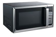 Hamilton Beach  0 9 Cu  Ft Microwave Oven Child Safety Lock Stainless Steel New