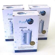 PureH2O PH21610 Refrigerator Water Filter Lot of 3 Frigidaire Kenmore Electrolux